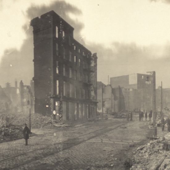 Baltimore Conflagration Historical Photo
