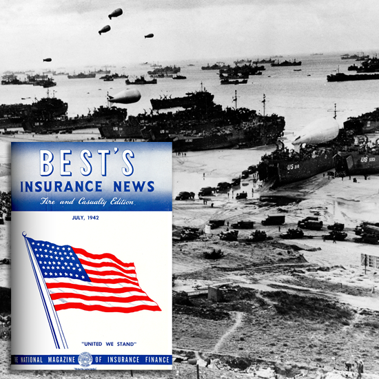 Best's Insurance News cover from WWII time period