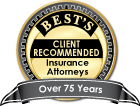 Badge: AM Best client-recommended for 75 years, an uncommon distinction.