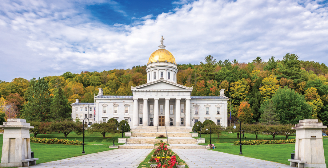 SEAT OF POWER: Vermont's Statehouse in Montpelier is where the governor signs legislation such as the most recent captive law that increased the viability of the state's captive protected cells
