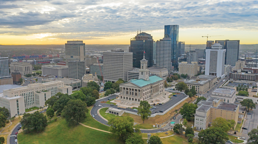 SEAT OF POWER: The Tennessee Capitol sits on a hill in Nashville. Gov. Bill Lee recently signed a bill amending the state's captive insurance law.