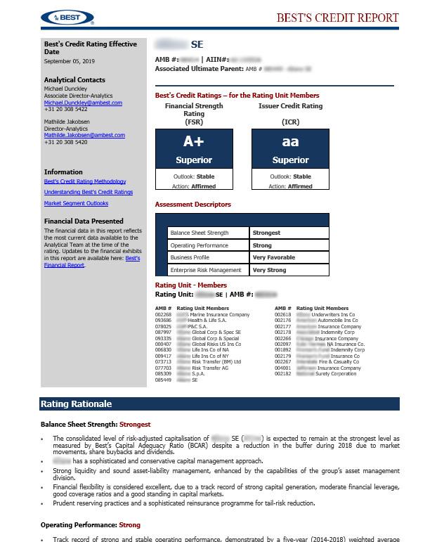 SFG AMB Credit Report