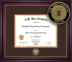Best's Rating Certificate