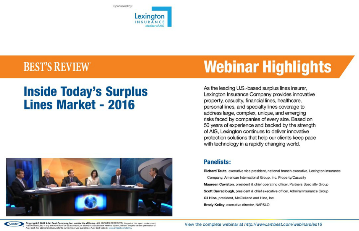Highlight: Inside Today's Surplus Lines Market